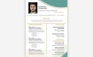 Free Cardiological Surgeon Resume Template