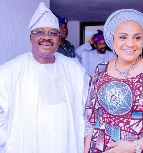abiola ajimobi and wife, florence ajimobi