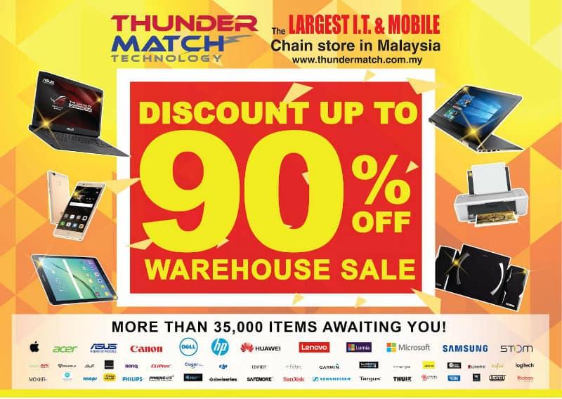 Thunder Match Warehouse Clearance SALE