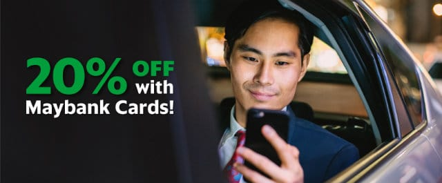 Grabcar 20% off with Maybank Cards