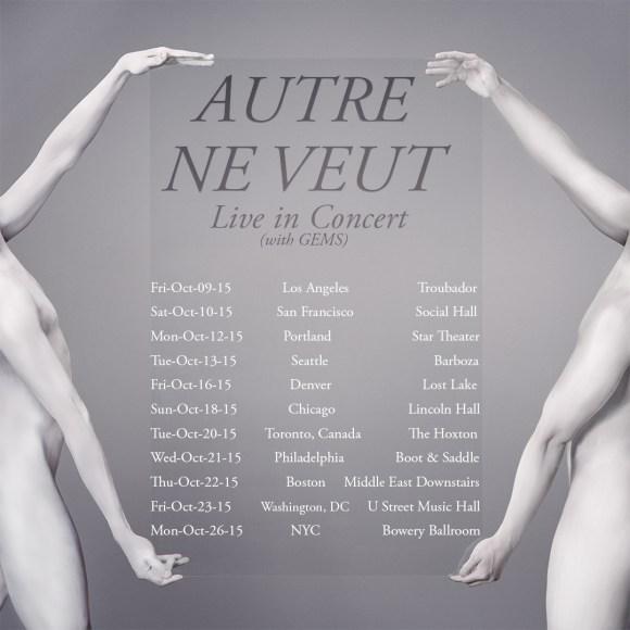 GEMS - Autre Ne Veut tour poster