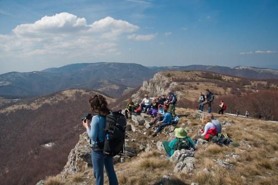 Na vrhu Straže, sa pogledom na Beljanicu