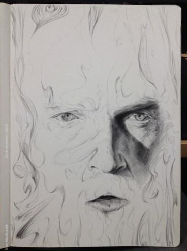Portrait Lines - Pencil on Paper -