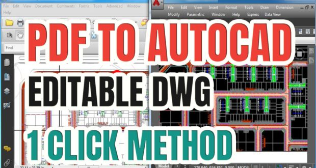 Convert PDF to AutoCAD Editable DWG Free - Free CAD Tips And
