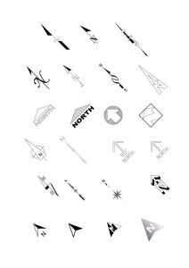 75 North Point Arrows Download Free CAD Blocks of North