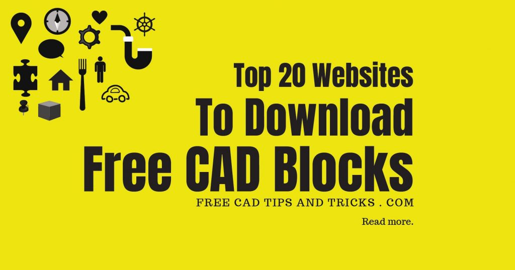 Top 20 Webites to Download Free CAD Blocks |AutoCAD Blocks Download
