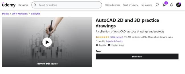 4- Learn AutoCAD Free Online