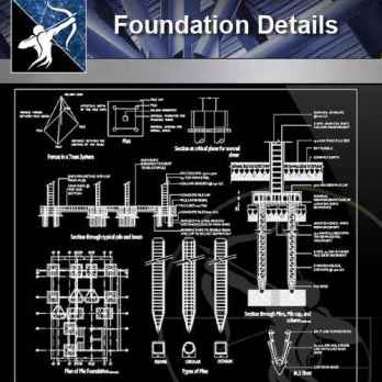 【Architecture CAD Details Collections】Foundation CAD Details 2