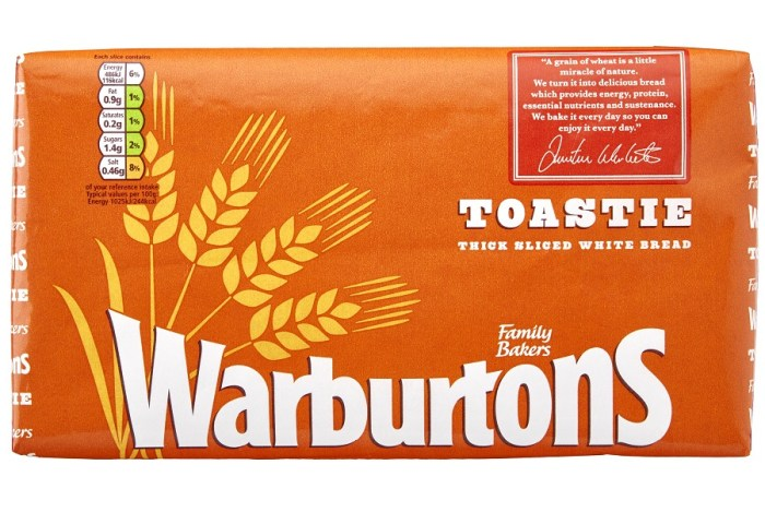 Calories In Warburtons Toastie Thick Sliced White Bread