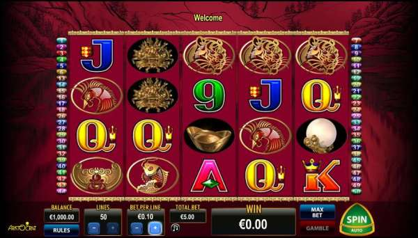 Play 50 Dragons Video Slot from Aristocrat for Free