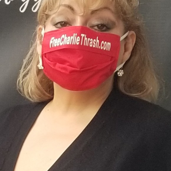 Nov 10, 2020: San Antonio's #FreeBritney rally, to end pop singer Britney Spears' conservatorship, is joined by the #FreeCharlieThrash team, with Laura Martinez-Thrash sporting fashionable pandemic-wear.
