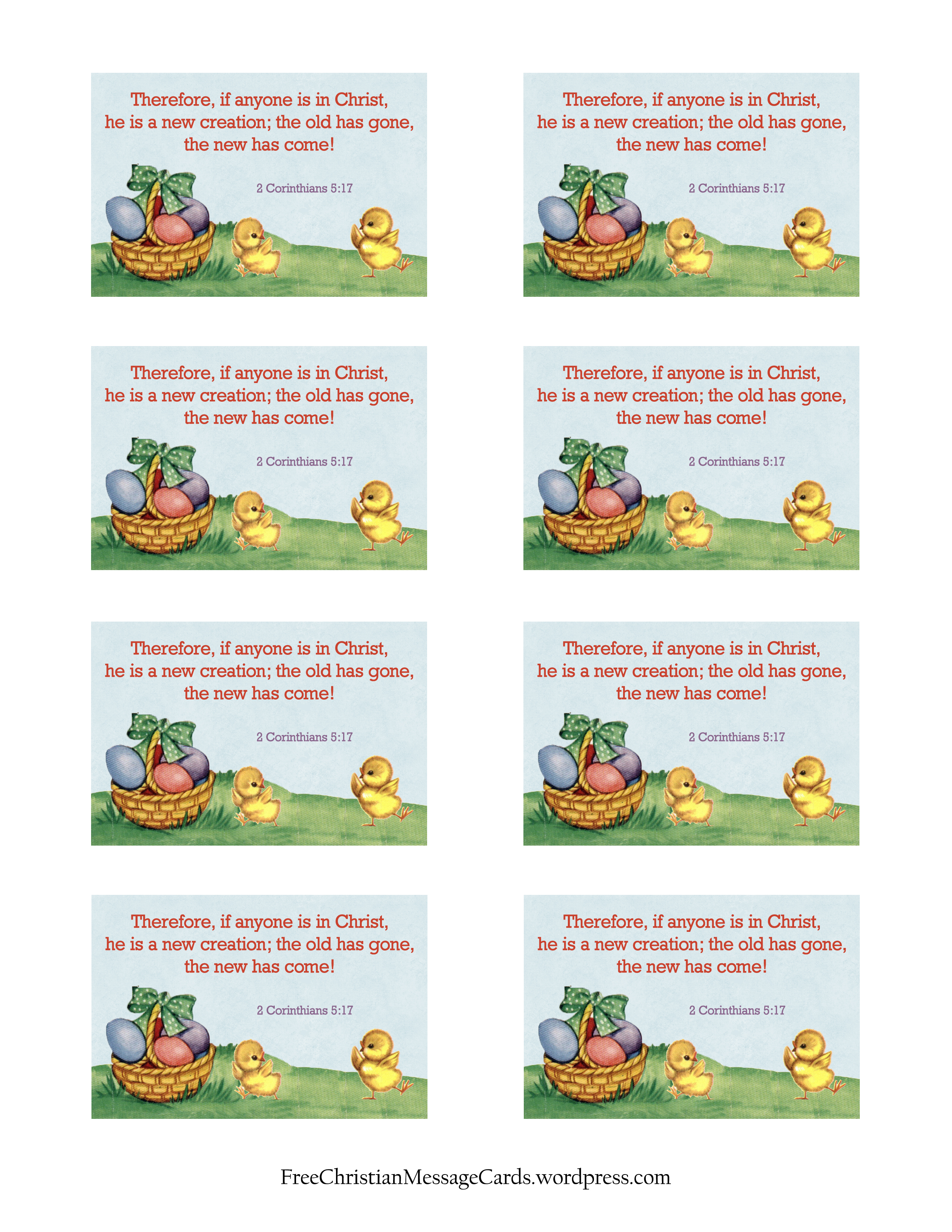 Free Printable Christian Message Cards If Anyone Is In