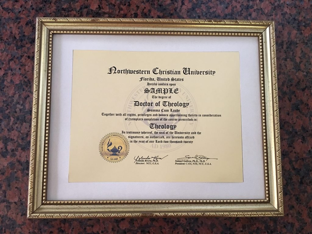 ncu degree certificate