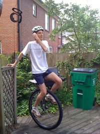 Getting the feel for my new Nightrider Pro Unicycle