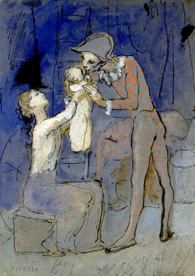 Picasso - Harlequin Family (1905), Rose Period