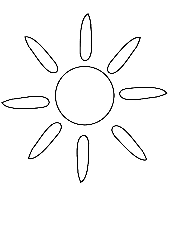 Sun Coloring Pages Free To Print
