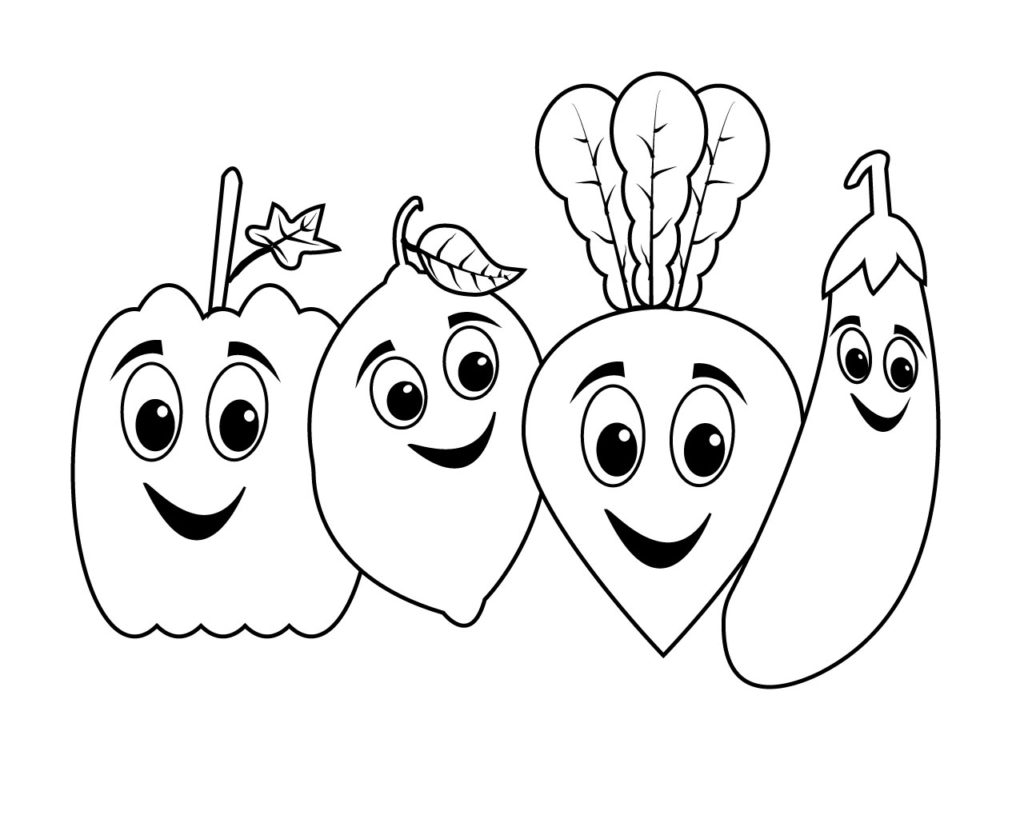 Vegetable Coloring Pages For Preschoolers Toddlers