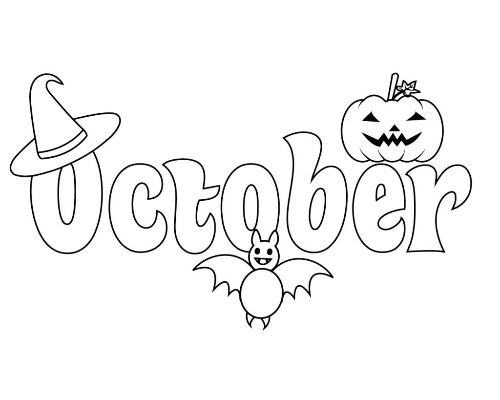 Top 10 October Coloring Pages For Preschoolers Kindergarten Adults