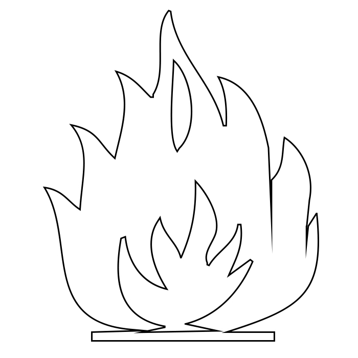 free printable flame coloring pagesfree