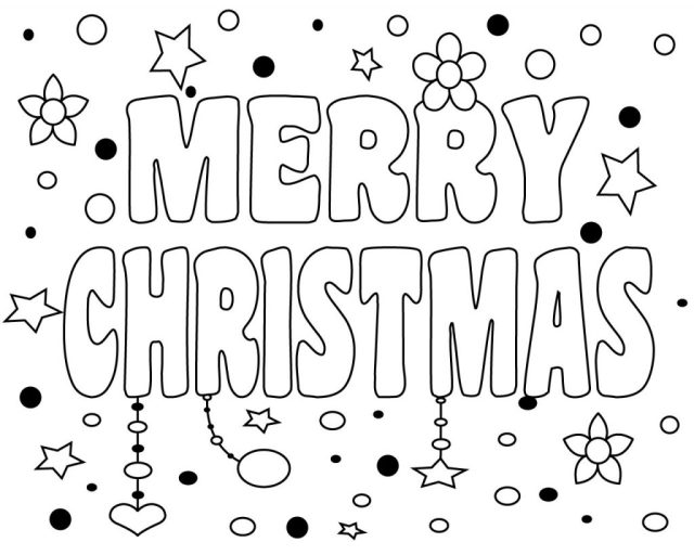 Printable Merry Christmas Coloring Pages For Kids, Adults and Mom 30