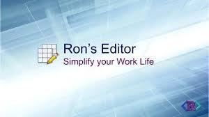 Ron`s Editor