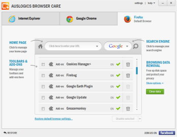 Auslogics Browser Care 5.0.18.0