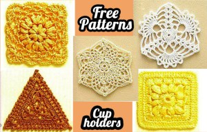 5 free crochet table cloth Cup Holder patterns to decorate your desk