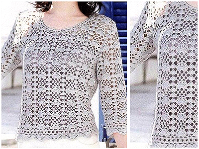 Choose your yarn and make this beautiful crochet blouse free pattern ...