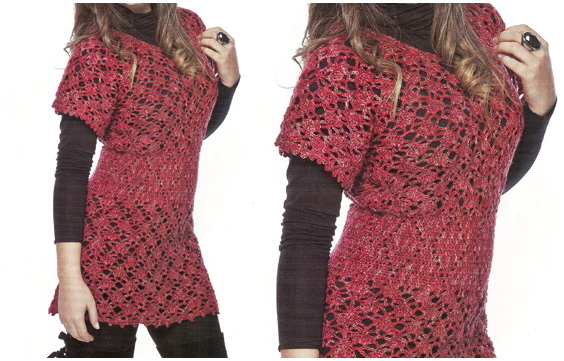 Crochet woman blouse to stay in the fashion of autumn and winter