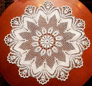 Tablecloth see the free chart and leave your kitchen table well decorated – Yarn of Crochet