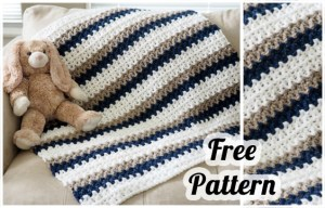 Baby Blanket: Take a blanket with free pattern (PDF instructions) - Crochet