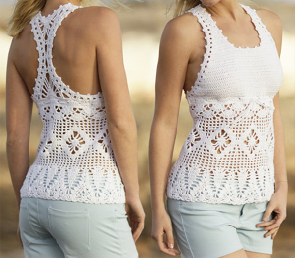 01 Crochet Blouse Free Pattern Choose Your Yarn And Follow The