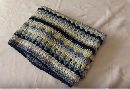Make a Crochet Blanket with the free tutorial. Video pattern.