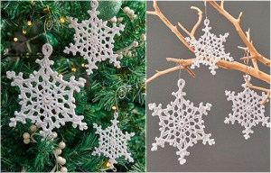Free Pattern Snowflake Ornaments - Christmas Decoration