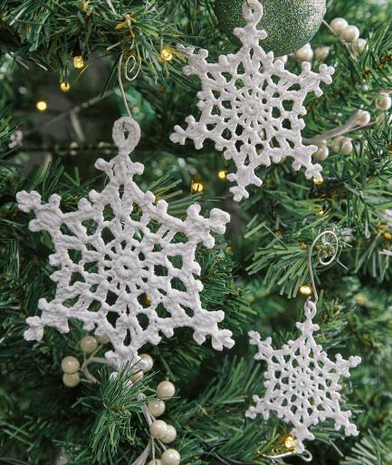 Free Pattern Snowflake Ornaments - Christmas Decoration