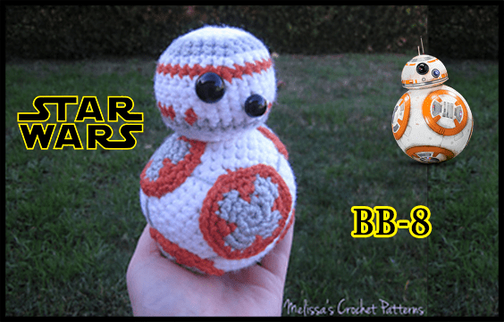 Amigurumi Star Wars Patterns : Bb 8 from star wars crochet pattern written yarn of crochet