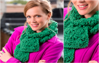 Green Scarf With Free Pattern Crochet