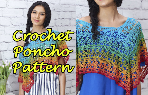 Fire And Ice Poncho Crochet Pattern Free Easy Yarn Of Crochet