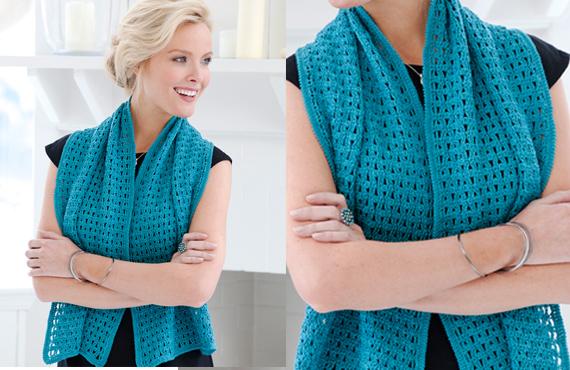 Evening Shawl Free Pattern Crochet Wrap - YARN OF CROCHET