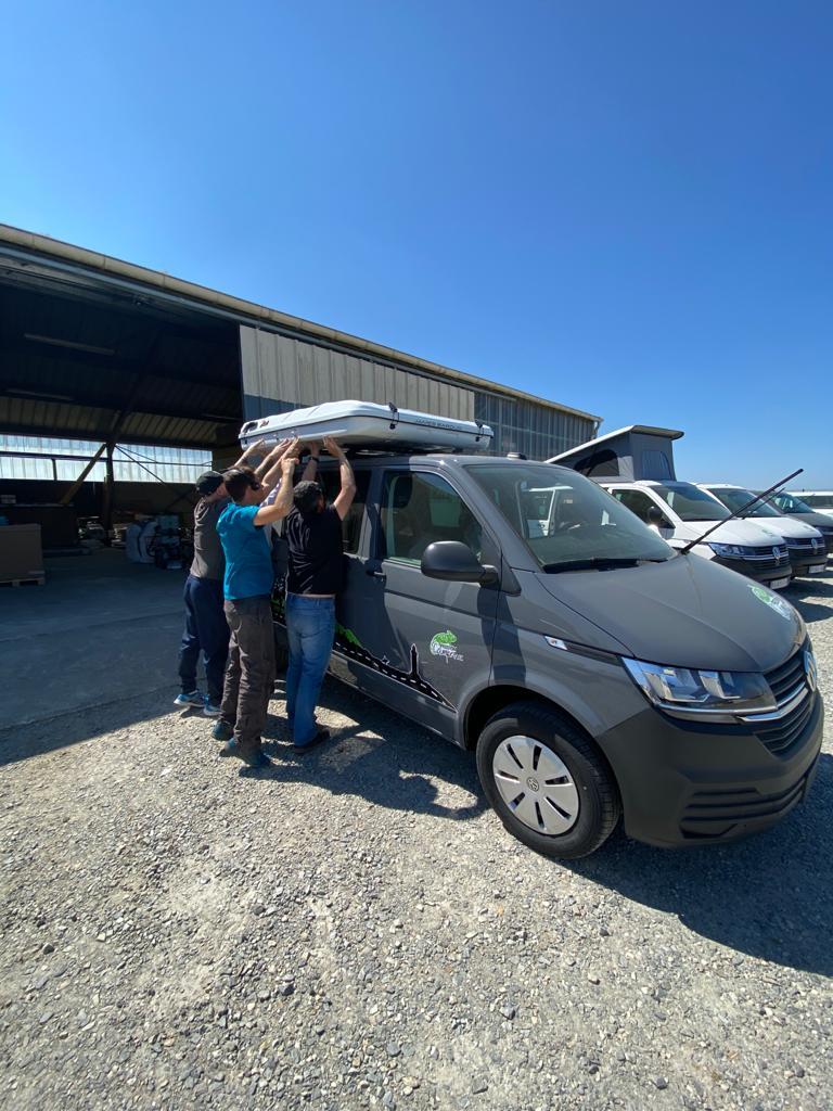 Tente-de-toit-pour-Volkswagen-Campervan Les tentes de toit James Baroud