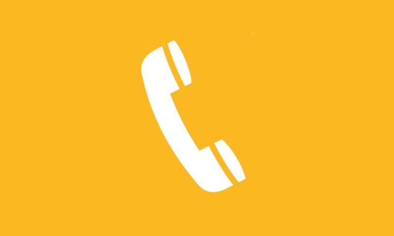 yellow phone icon