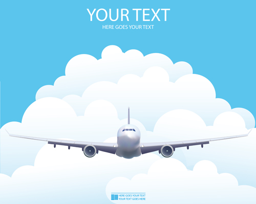 Elements Of Airlines Background Design Vector 01 Free Download