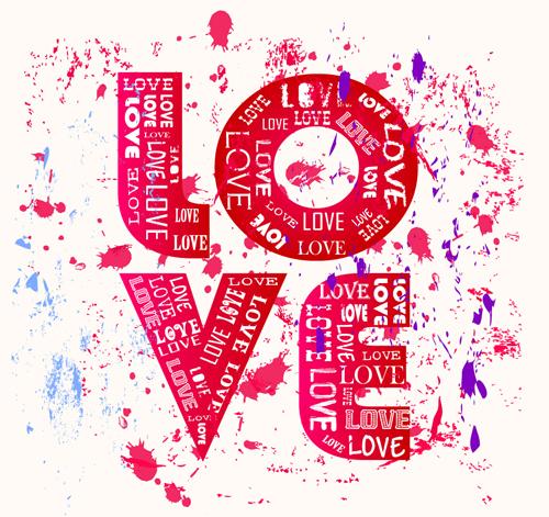 Download Set of Vintage Love design elements vector 01 free download