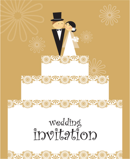Fl Wedding Invitation Card Designs Vector