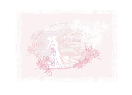 Creative Wedding Backgrounds Design Vector 05 Free Download
