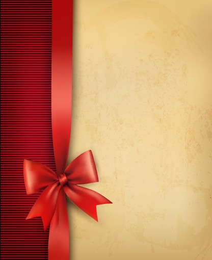 Paper With Ribbon Backgrounds 01 Vector Background
