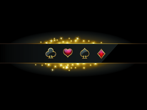 Shiny Casino Elements Background Vector 01 Free Download