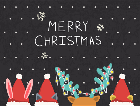 Cartoon Style Christmas With New Year Background 01