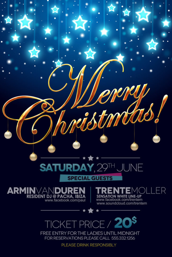 Creative Christmas Poster Psd Material Free Download