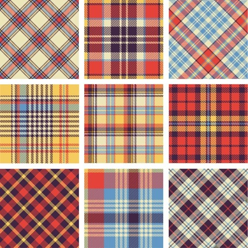 Plaid Fabric Patterns Seamless Vector 13 Vector Pattern